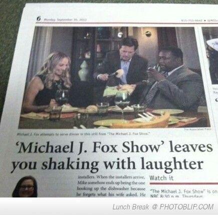"Someone fucking did it. . e""., ric'."" j"" with laughter lil. ' Watch it. don't get it Michael J Fox WTF onion parody dark humor"