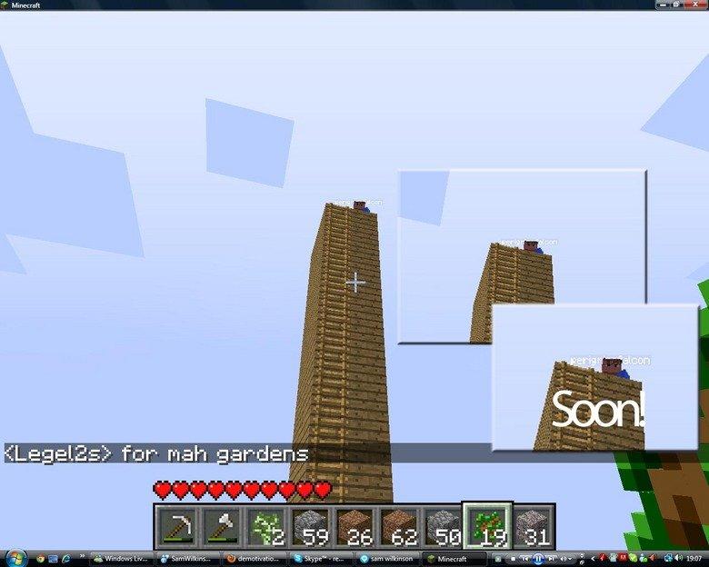 Soon, minecraft. Soon, very soon indeed.. esenel soon sorry sam monkey butler