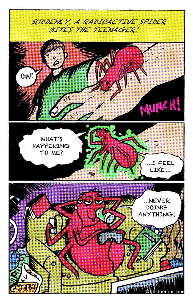 Spider bite. . TO ME?. wait, wait, wait... i can...