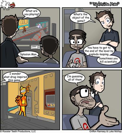 Splosion Man. .