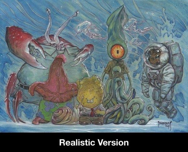 Spongebob IRL. . Realistic Version. stand corrected