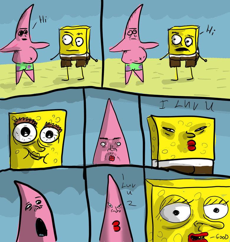 Spongebob & Patrick luv. its luv i drew dis i hop u lik et.