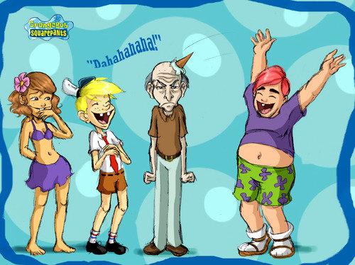 spongebob. .. Patrick looks like Perez Hilton D: