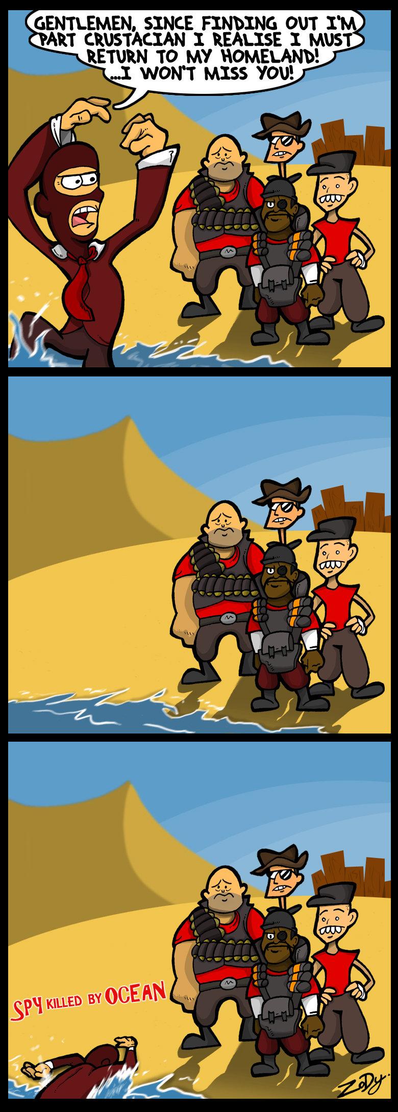 spy crabs. why do people kill spy crabs? WHY?!?!?. Mill, SINCE can iih' Llil. y.... i! i! Ericii MISS YOU! all %. so sad