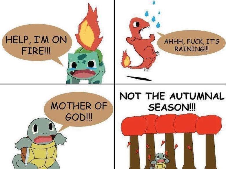 Squirtle vs. Autumn. . NOT THE SEASON!!! Pokemon