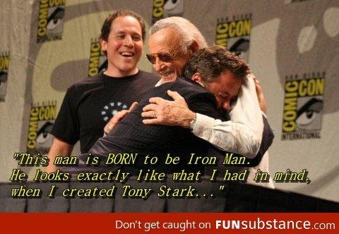 "Stan Lee is so sweet. . ii' i' viii' ikiillu' l' iit Don' t get caught on FUN balance I created Tony Stark. , . """