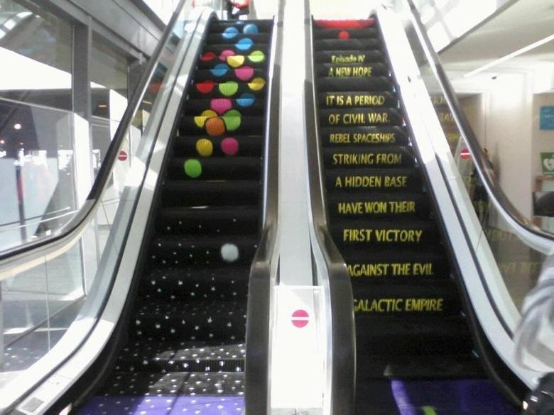Star Wars Escalator. .