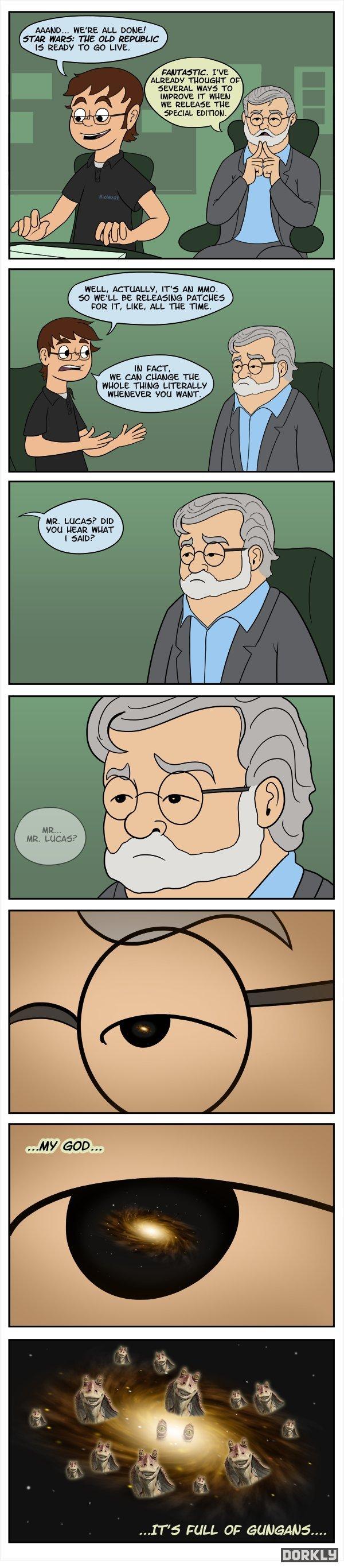 "Star Wars Vs. George Lucas. Pretty much. WE' RE ALL DUNE! STAR "". THE HERMES Jimi?, TD IMPROVE ET ' -I 51-"" EEVN... EDITING. WELL, ACTUA' -ELLE', ] All HMO. 513 EEYUP"