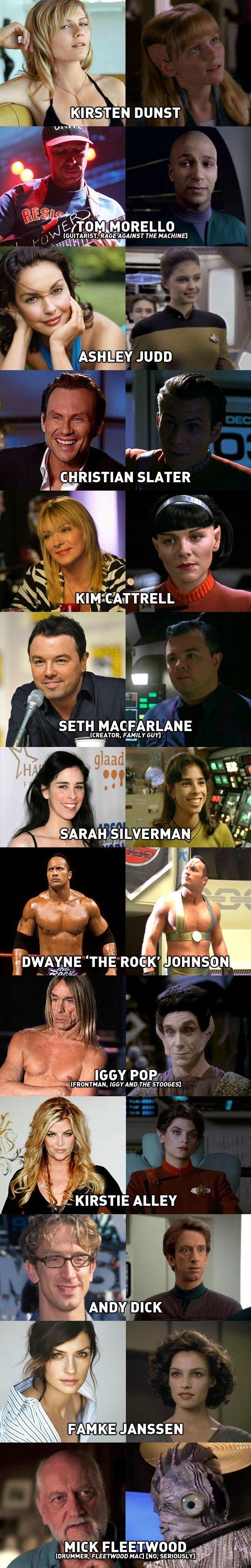Star Trek Celebrities. Celebrities who has been on Star Trek.. THE MACHINE] SETH MACFARLANE lacuna THE 510055] 25 ANA 3 MICK FLEETWOOD I. 'iill, ', FLEETWOOD MA Star Trek Celebrities