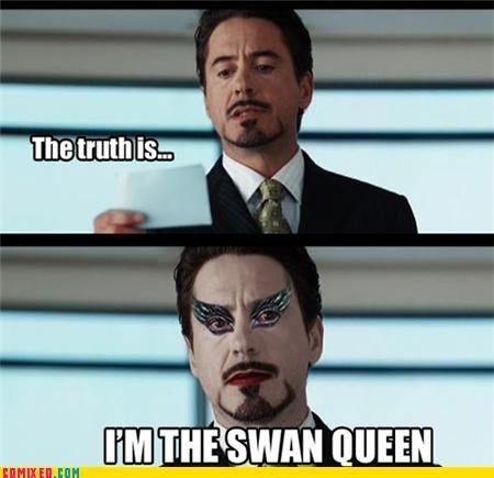 Stark Queen. .. you ruined robert downey jr for me.. i hope you are happy now stark swan queen
