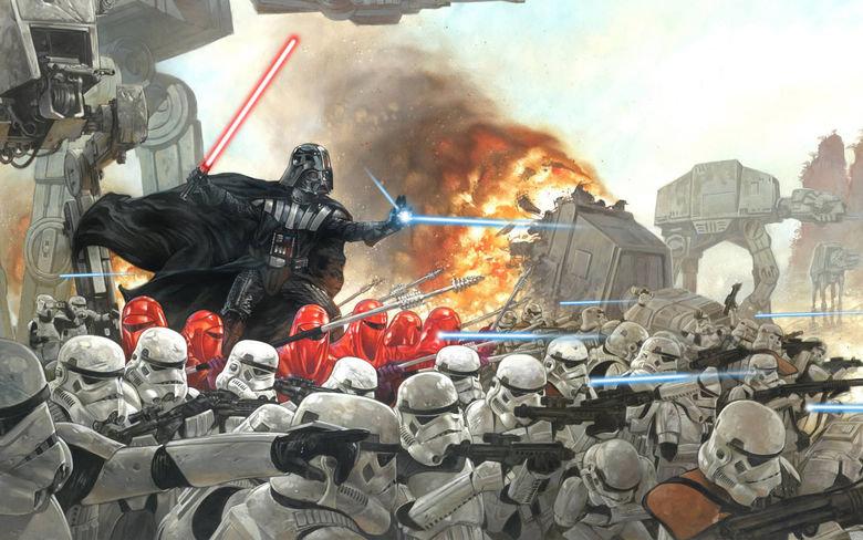 Starwars Wallpaper. Awesome Star wars wallpaper!.. EPIC star wars Imperal Troops Darth Vader wallpaper
