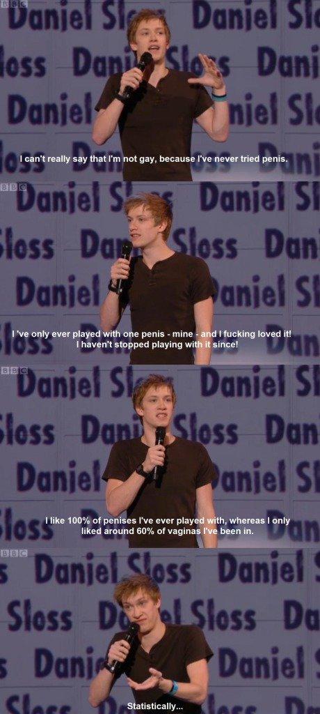 Statistically I'm gay. .