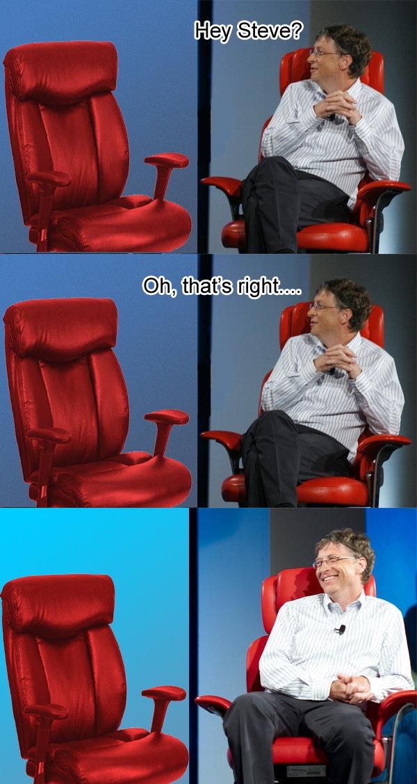 Steve Jobs And Bill Gates jokes again. Heh .