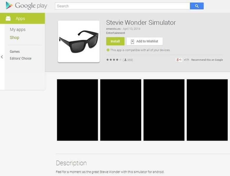 Stevie Wonder SImulator. . b. Google play . E Stevie Wanda' Sirraptor