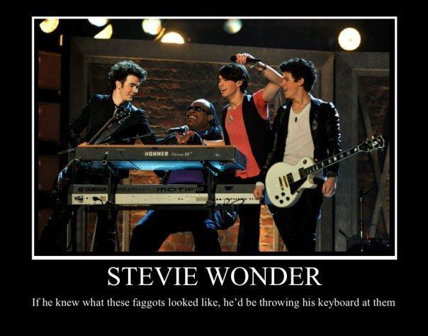 Stevie Wonder. lol. STEVIE WONDER. dudes blind. not deaf