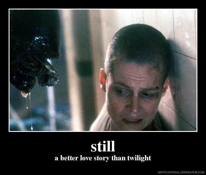 Still a better love story than twilight. i got more.. a better love story than twilight