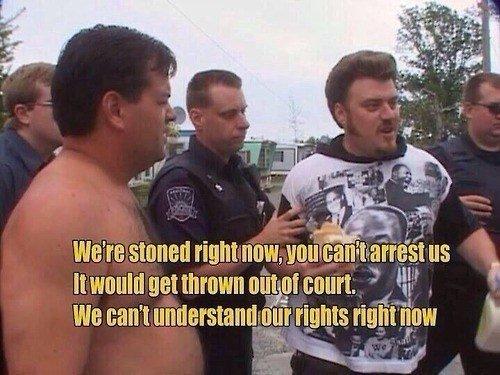 Stoner logic. .. Trailer park boys is the funniest show I've ever seen.
