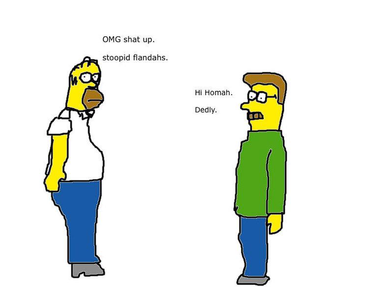 Stoopid Flandahs. . The Simpsons