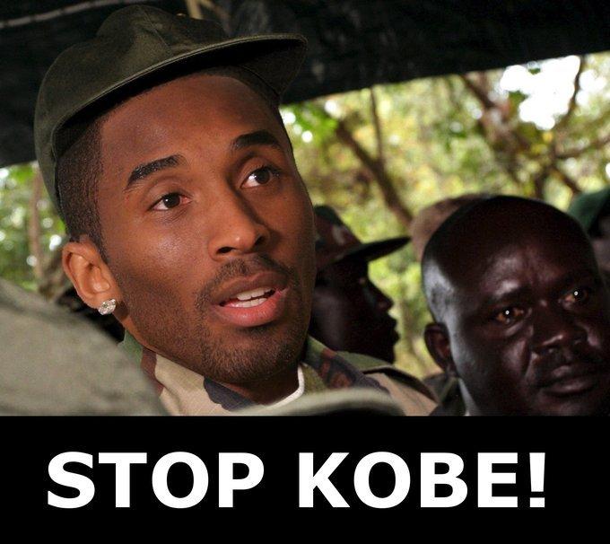 stop kobe. I lol'd. STOP KOBE!. CHALLENGE ACCEPTED! kobe kony for te
