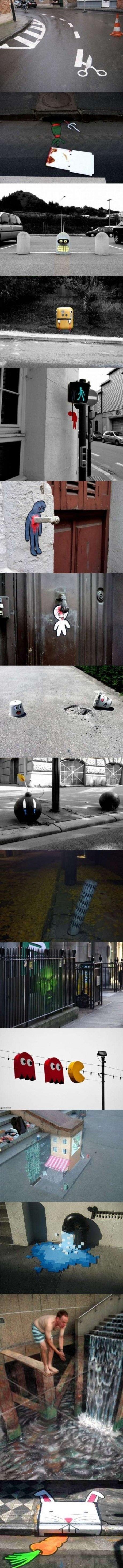 Street Art = Mind Blow. cool street art. yvv Cryd. REPPOOSSSSSSSTTTTT cool street Art mind blown Awesome