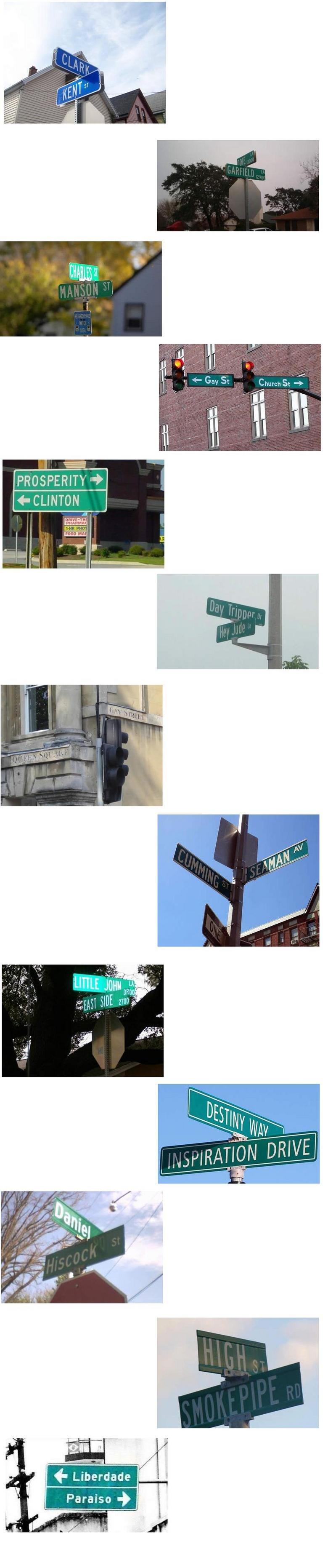 Street names. green if you like. cheek out my other stuff too.. lol seamen cumming street names