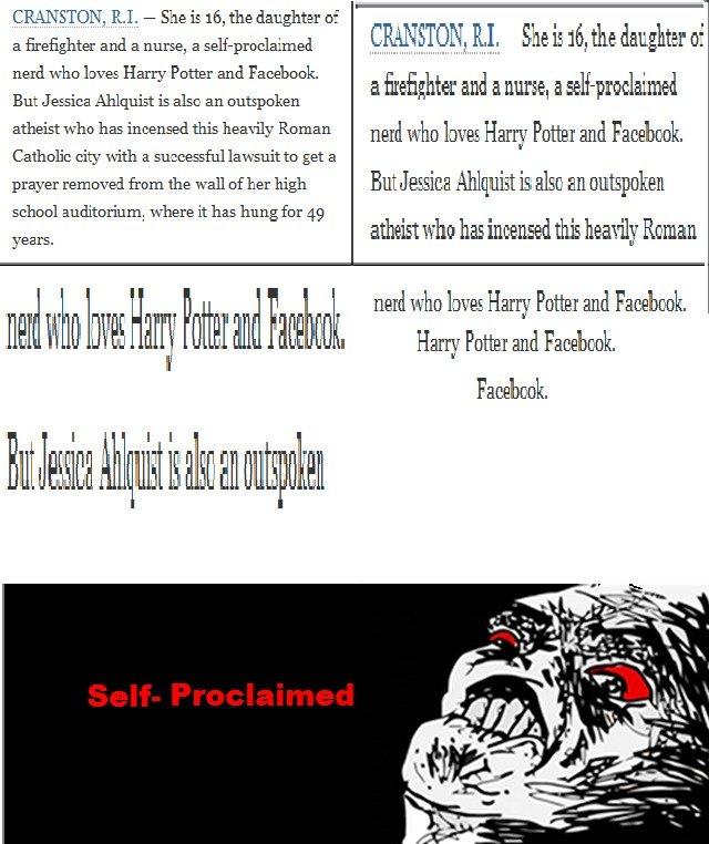 Stupid Facebook Nerd Girl. .