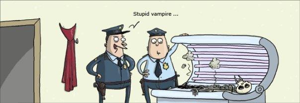 STUPID VAMPIRE. .