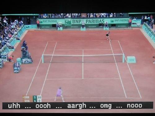 Subtitles to tennis. .