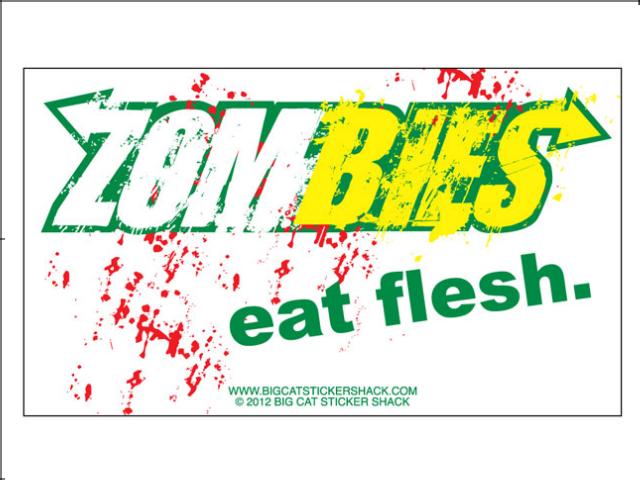 Subway eat fresh. LOL kicking it zombie Style. In wwy. . Cait c ,, I'? 2012 BIG CAT STICKER SHACK