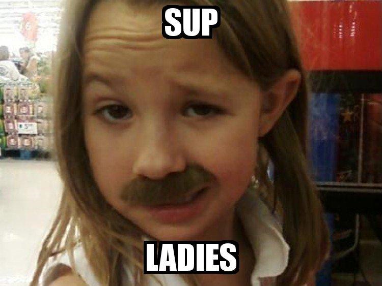 Sup ladies. .. Loli used Mustache! Pedobear is confused!