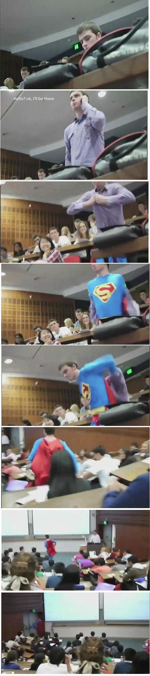 Superman in College!. lol....