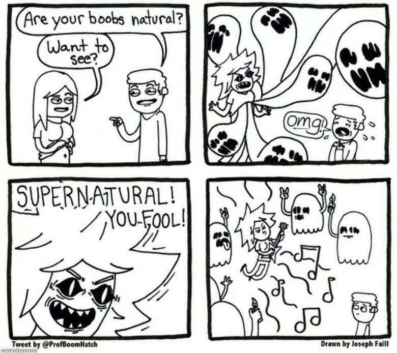 Supernatural. Dat Cray: www.crackedsorcerer.com/post/1898/Dat-shit-cray. funny comics