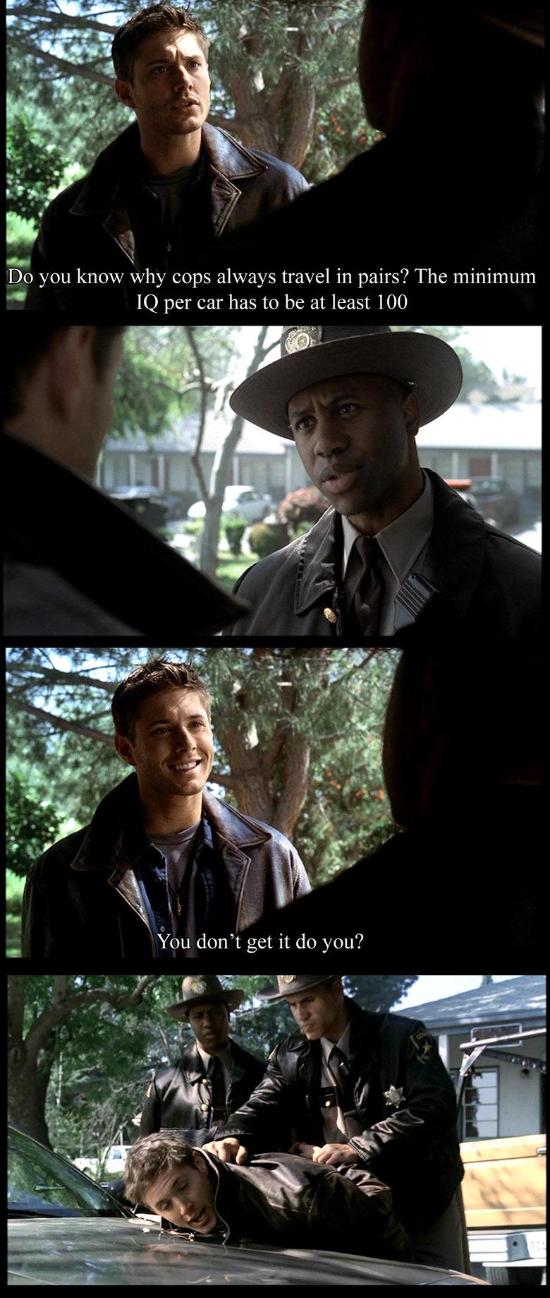 Supernatural: Dean's Bad Joke. . supernatural Dean Winchester  bad joke
