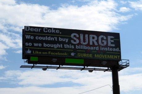 Surge Soda. www.facebook.com/SURGE.Soda.