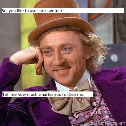 "Swearing... Redo..... ""Than"" not ""then"" r"