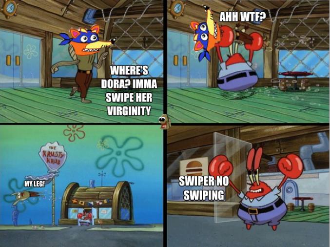 Swiper no swiping!. .