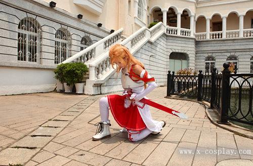 Sword Art Online Asuna cosplay. Sword Art Online Asuna cosplay from Xcoser.