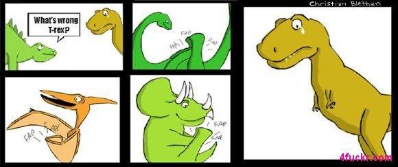 T Rex Cant Fap. poor T-rex.