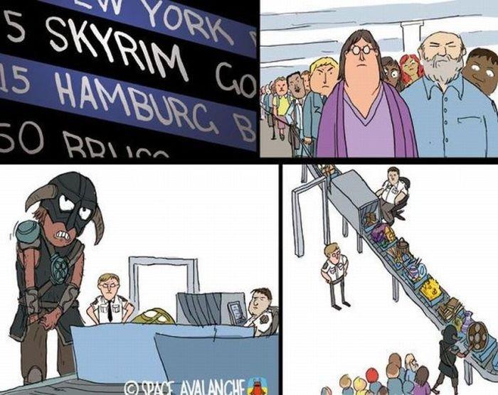 Taking the 405 to Skyrim. skyrmz.. gaben? half life 3: confirmed