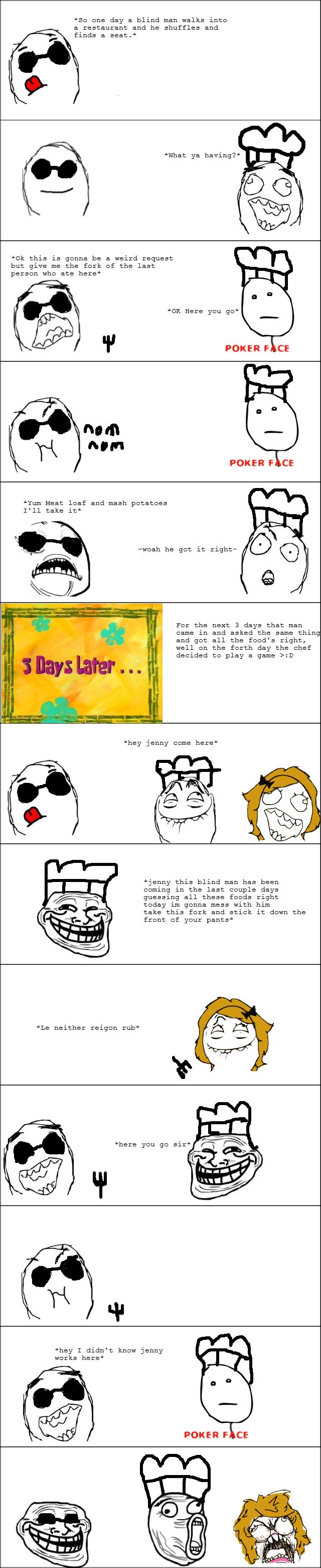 Tastes Like Chicken. .. id rather read the joke as a joke instead of read it through a 9gag meme comic