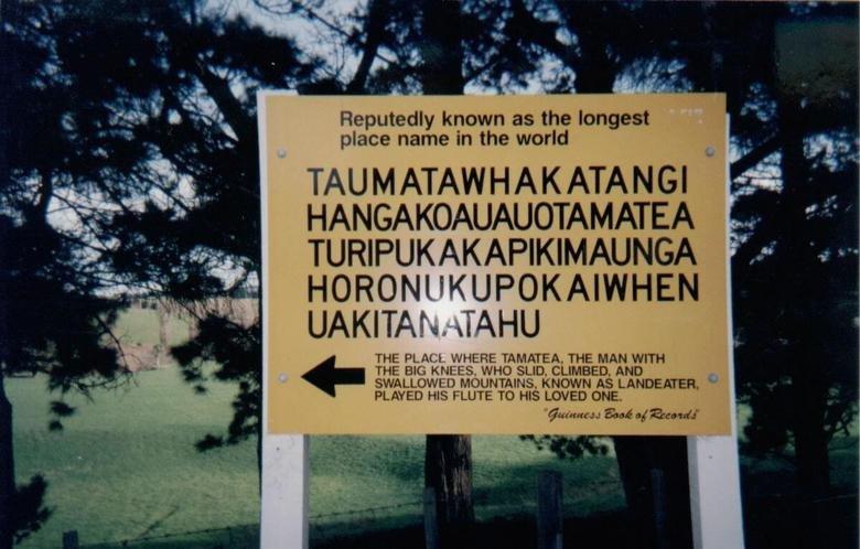 Taumatawhakatangihangakoauauotamateaturi. Imagine the dentist begin like: So where are you from.