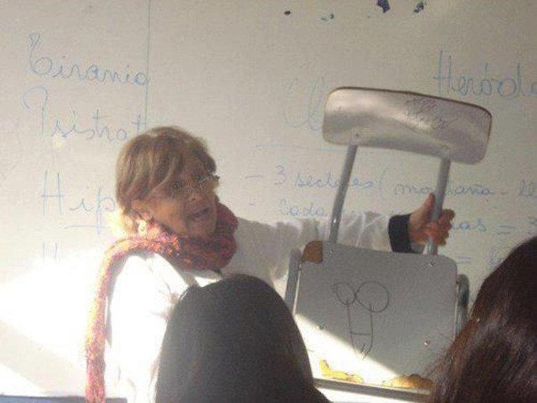 teacher stroke. .