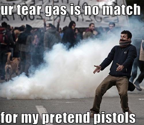 Tear gas. . for mieti. k. [minis