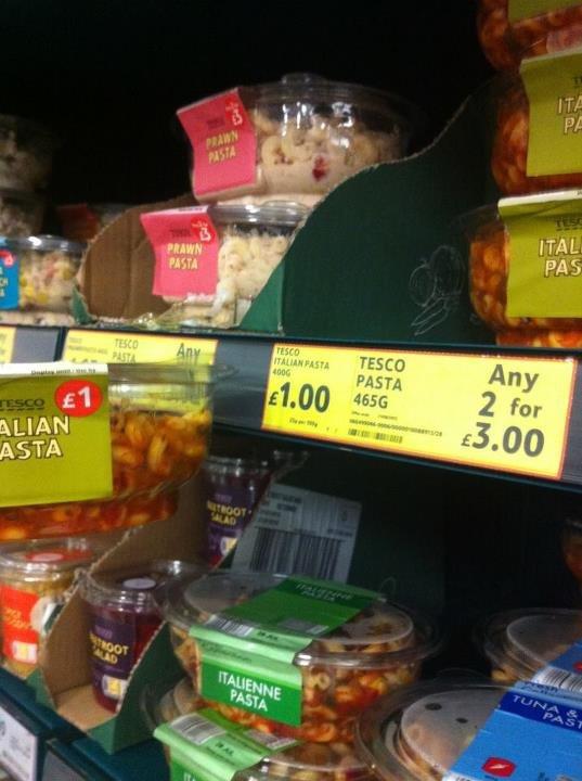 Tesco Bargain. 1 for £1 or 2 for £3.