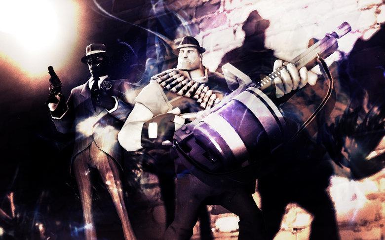 TF2 Gangster Wallpaper. 100% OC.. Needs moar Family business. wallpaper