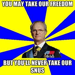 Tha king of sweden talks for his people!. . lari' , nun. Svensk snus <3 Nordmann