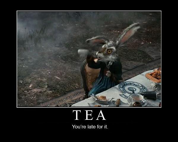 Thackery Earwicket. The March hare.. Tea alice in won