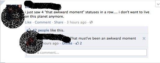 that awkward status. . an this planet anymore., awkward facebook status