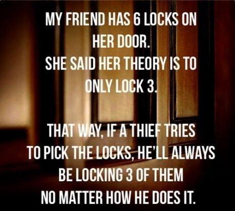 The 6 Lock Method. . MY FRIEND MS it LOCKS ON SHE Mill HE fly IS Til NWKK uit Y, tn Ti) PICK THE Lacks, HE' LL h HIKING 3 TER HOW HE IT.. False