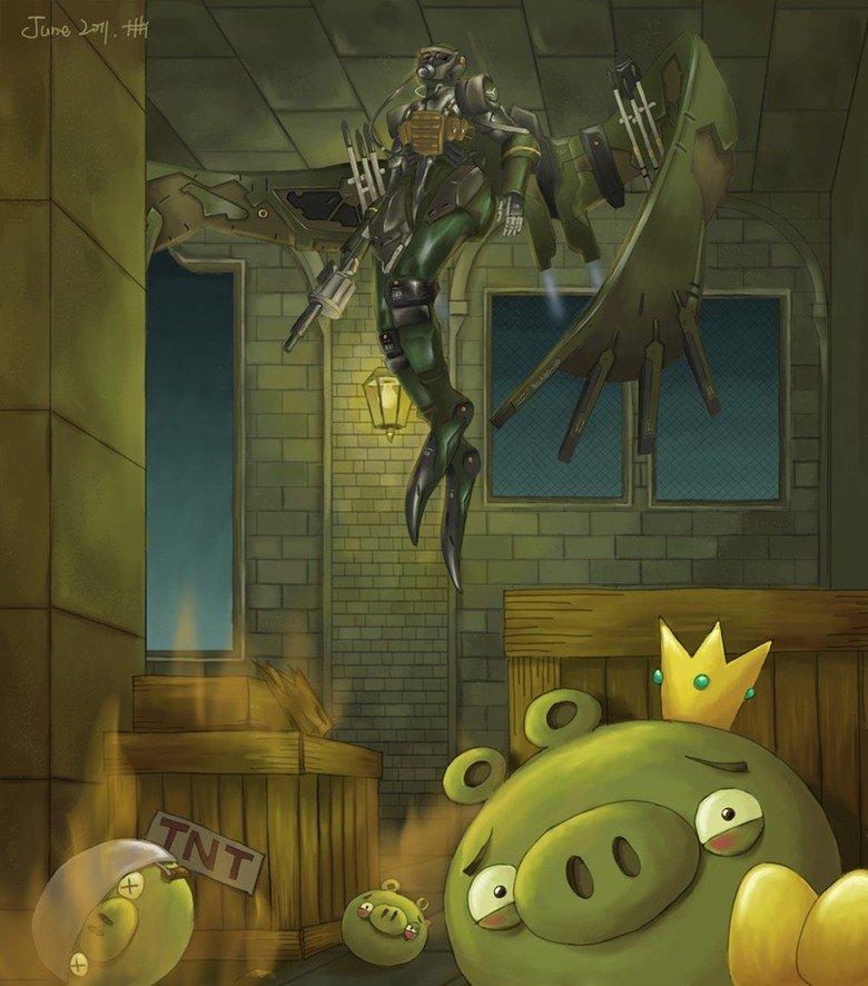The angriest bird. stolen borrowed from shenxiaolu deviantart com/art/a-very-angry-bird-213113457. take it easy